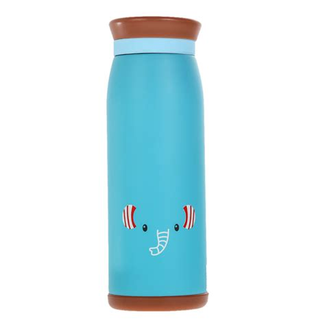 colourful thermos insulated mik water bottle 500ml blue jakartanotebook