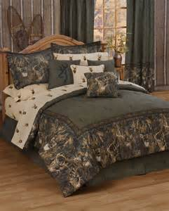California King Size Camo Bed Set Comforter Rustic Lodge Bedding Cal King Bed Set Whitetails
