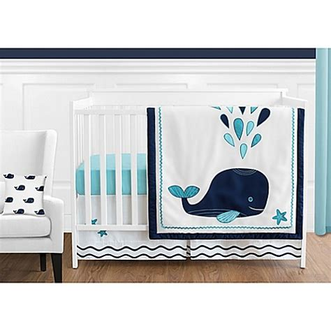 Whale Crib Bedding Sweet Jojo Designs Whale Crib Bedding Collection In Navy Buybuy Baby