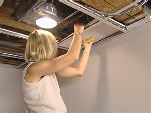 Drop Ceiling Replacement Panels How To Install An Acoustic Drop Ceiling How Tos Diy