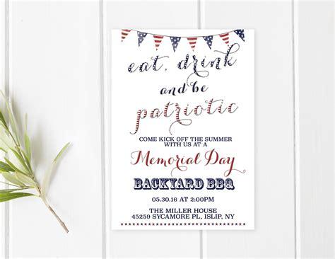 free memorial day invitation templates you are invited