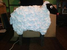 cardboard sheep template manger pattern use the printable outline for crafts
