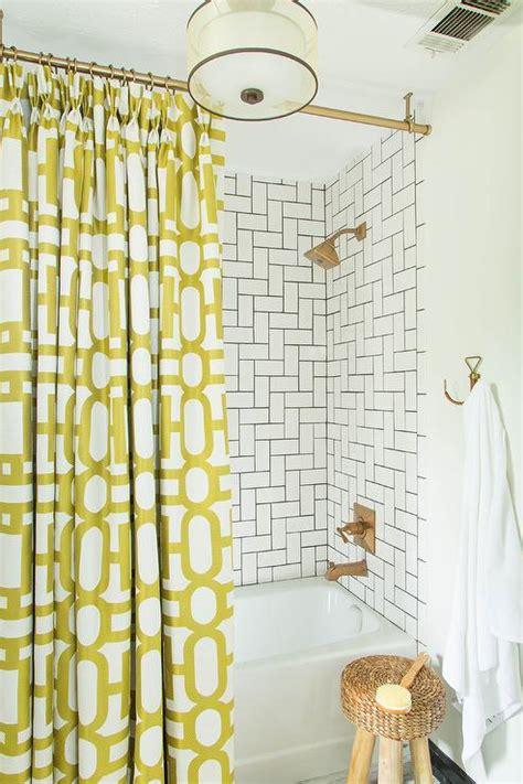 yellow bathroom curtains bathroom with yellow shower curtain contemporary bathroom