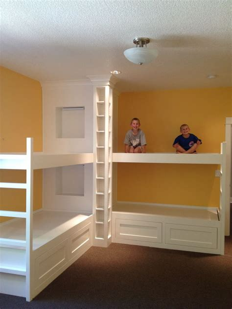 custom loft beds custom bunk beds open floor plan white kitchen built in