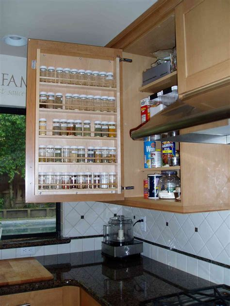 wall spice cabinet with doors 20 spice rack ideas for both roomy and cred kitchen