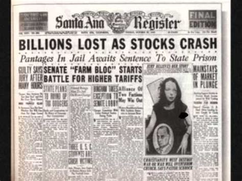 great depression / stock market crash / black thursday