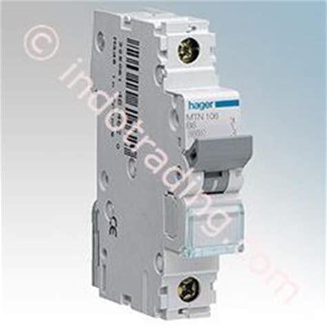 Saklar Hager jual aksesoris listrik mcb hager single phase 1p 1a 4a 4