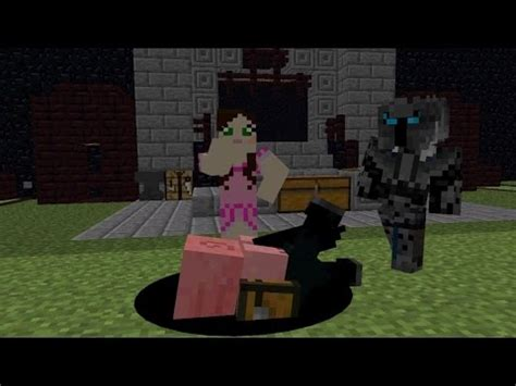 popularmmos animation with jen pigs riding horses! lucky
