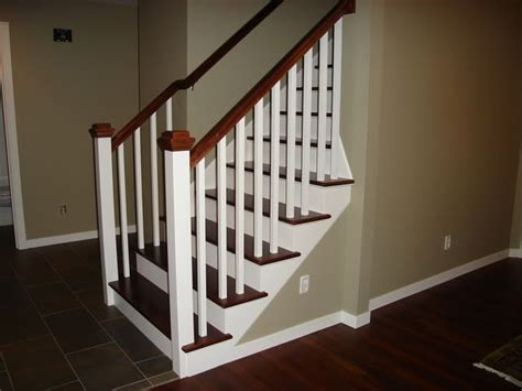 craftsman stair railings stair rail stain color advice home decorating design forum