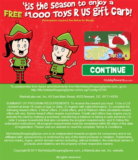 Free Gift Cards No Participation Required - get a 1 000 toys r us gift card participation required the bandit lifestyle