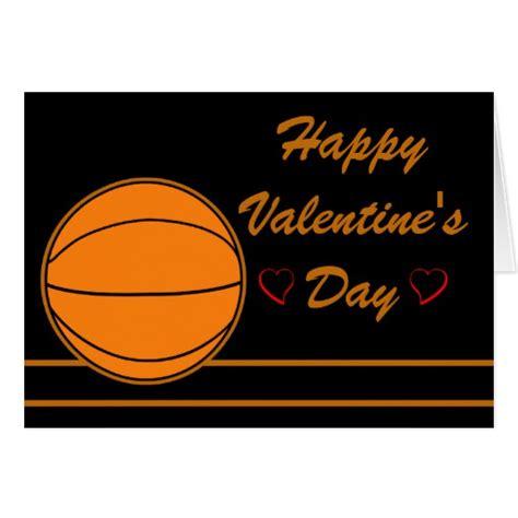 basketball valentines basketball happy valentines day card zazzle