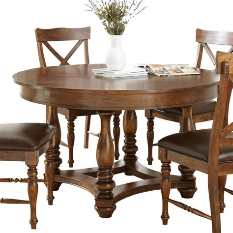 steve silver wyndham dining table in distressed