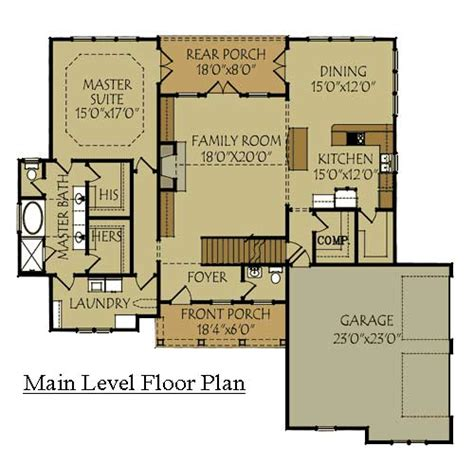 Craftsman Style House Floor Plans Craftsman Style Home Design