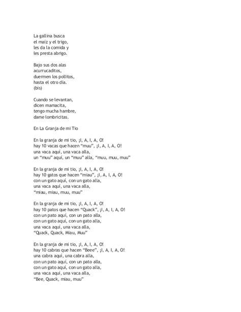 canciones infantiles letras y musica cortas canciones de cuna letras cortas hogar y ideas de dise 241 o