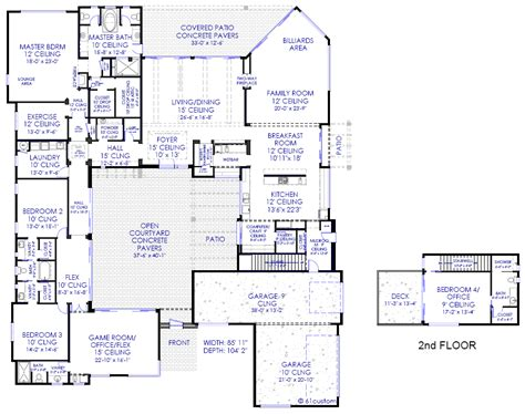 Good Floor Plans Of Mansions #2: Decor-luxury-mansion-floor-plans-with-luxury-modern-courtyard-floorplan-21.jpg