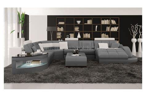 Canapé d'angle panoramique en cuir modèle team