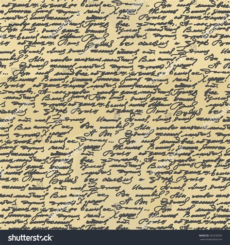 ancient writing paper handwriting seamless pattern abstract letter stock