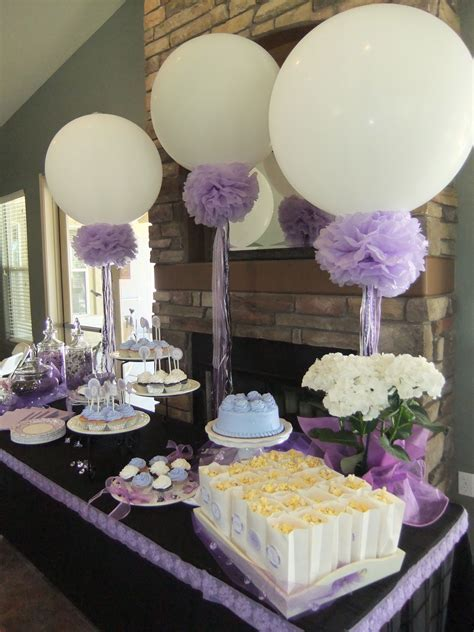 Lavender Bridal Shower 36in balloons, pompoms and frilly