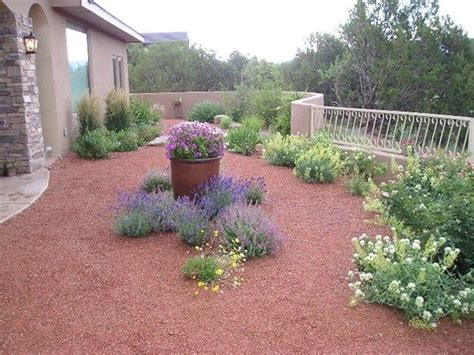 backyard xeriscape ideas gravel mulch xeriscape southwestern landscaping red twig