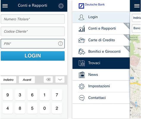 deutsche bank interactive login e disponibile la banca l app gruppo deutsche