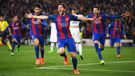 barcelona goal sergi roberto barcelona psg uefa chions league 08032016