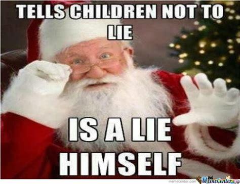 Bad Santa Meme - zen parenting santa claus and elf on the shelf not in
