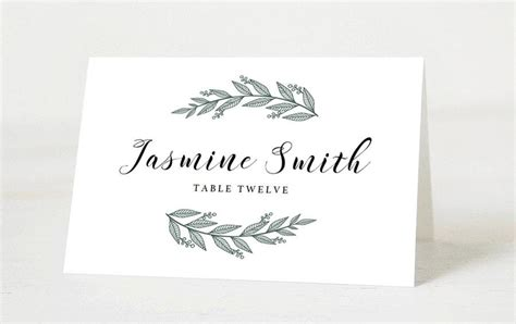 editable wedding place cards template printable place