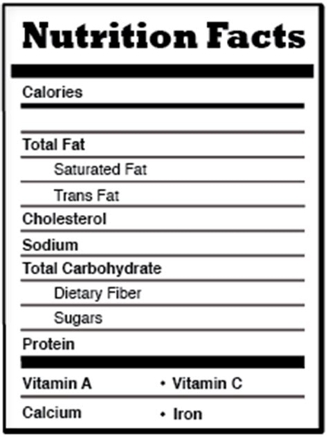 nutrition facts table template t581teamb2011 uxuidesign