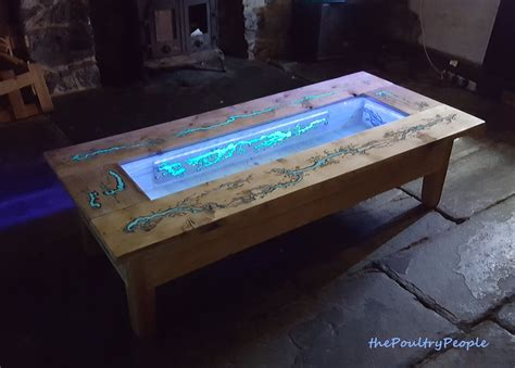 glow in the dark table decor and design diy pallet coffee table glow in the