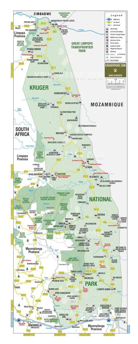 kruger national park map kruger national park