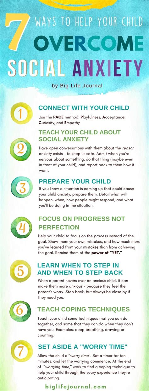 7 effective ways to help children overcome social anxiety big life journal