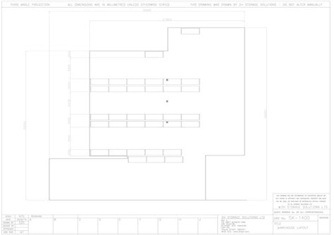 warehouse layout dwg cad drawings
