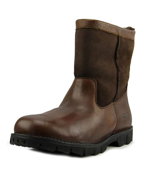 mens ugg beacon boots ugg m beacon toe leather brown winter boot in