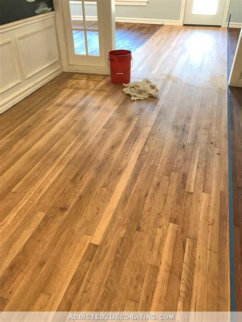 adventures in staining my oak hardwood floors