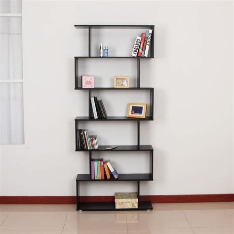 Book Shelf by Wooden S Shape Storage Bookcase Ideal Home Show Shop