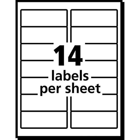 avery easy peel white inkjet mailing labels 8162