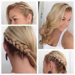 hair side alexsis mae side braid with classic curls