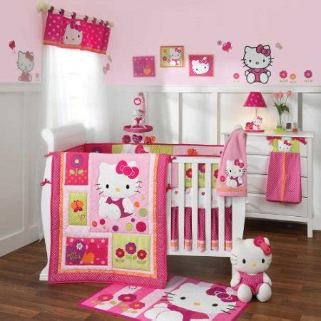 hello kitty accessories for bedroom hello kitty garden crib bedding and accessories baby