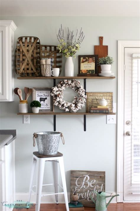 Kitchen Shelves Decorating Ideas 41 Farmhouse Decor Ideas