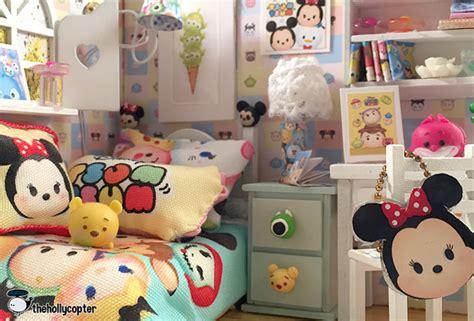 Pink Cup Cake Tsum Tsum Shortpants Pajamas tsum tsum diy miniature dollhouse kit with working lights