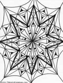 Kaleidoscope 14 Coloring Page  Black And White Pinterest sketch template