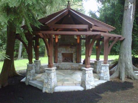 gazebo with fireplace gazebo outdoor fireplace yelp