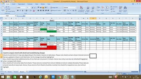 Compare Spreadsheets In Excel by 28 Compare Spreadsheets In Excel How To Compare Two