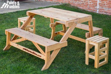 mesas y sillas plegables para cing mesa banco plegable palets ymuebles palets y muebles