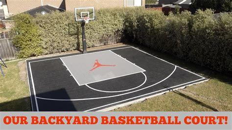 our backyard basketball court