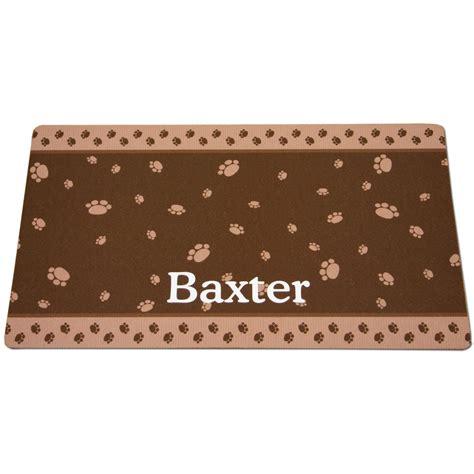 Litter Box Mat by Drymate Brown Paw Border Personalized Cat Litter Box