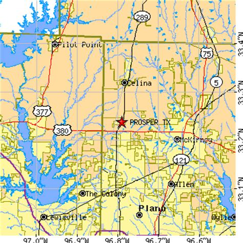 map of prosper texas prosper texas tx population data races housing economy
