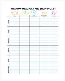 sle menu planning template 9 free documents in pdf word