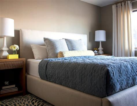 bedroom beige and blue white and beige bedroom with blue bedding transitional