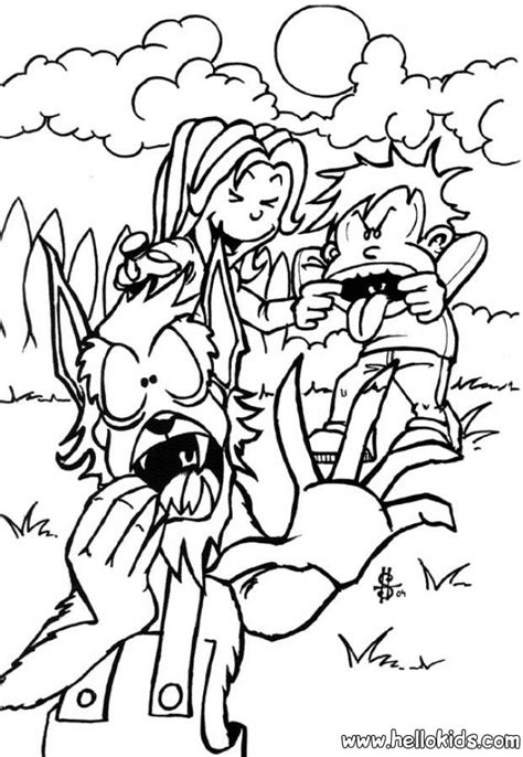 halloween wolf coloring pages halloween werewolf coloring pages for kids grig3 org